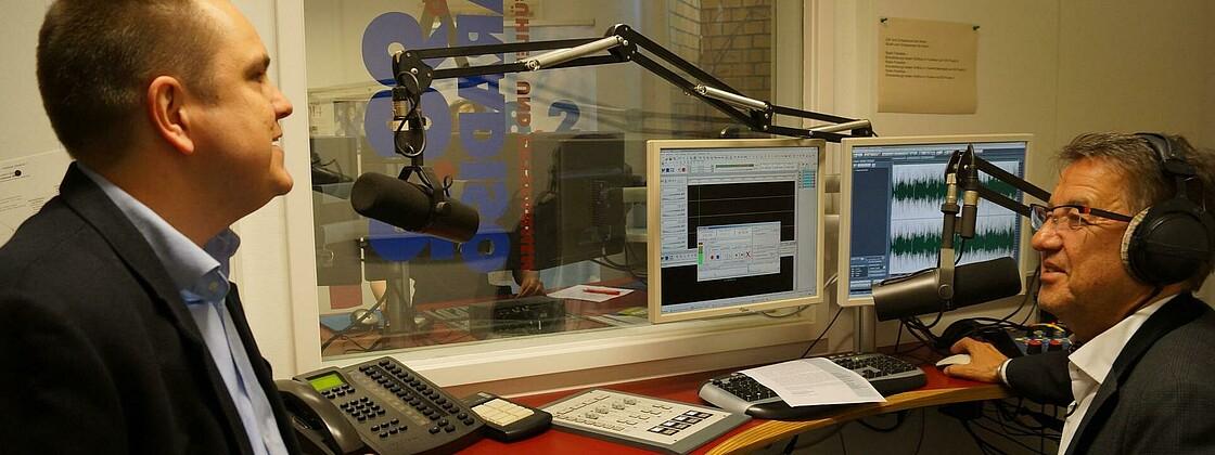 Radio Paradiso Mahler Gruber im Studio