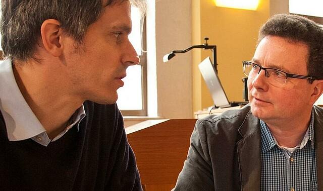 André Peter (l.), Pastor in Flensburg, und Michael Schubach, Regionalreferent für Ostdeutschland im Dienstbereich Mission