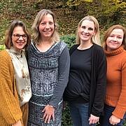 Kerstin Schmitt, Christina Döhring, Heike Menzel-Kötz, Shannon von Scheele (v.l.n.r.), nicht auf dem Bild: Anika Schönhoff