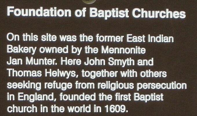 EBF Amsterdam 400 Foundation of Baptist Churches