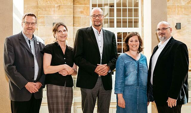 v.l.n.r.: Volker Bohle, Cornelia Gerlach, Alexander Rockstroh, Lea Herbert, Veit Claesberg